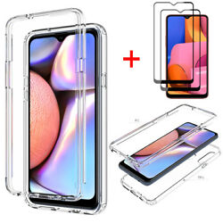 For Samsung Galaxy A32 A11 A21S A12 A20S Case Clear Crystal CoverTempered Glass $8.59