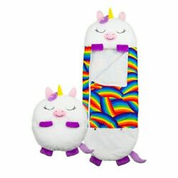 1X White Happy Nappers Sleeping Bag Kids Boy Girl Play Pillow Unicorn Xmas Gift $38.94