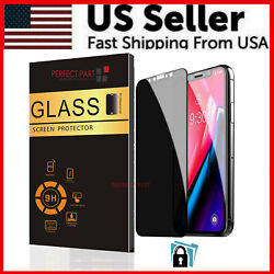 9H Privacy Anti Spy Tempered Glass Screen Protector For iPhone 12 Pro Max Mini $5.49