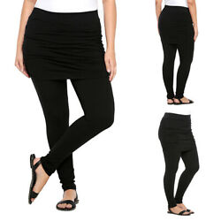 Plus Size Women#x27;s High Waist Gym Skirted Leggings Ladies Sports Pants Trousers $15.86