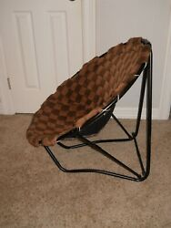 Saucer Chair 32 inch Foldable frame Brown $7.00