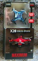 NEW Propel Maximum X20 Micro Drone BLUE Beginner Easy Quadcopter Sealed $15.00