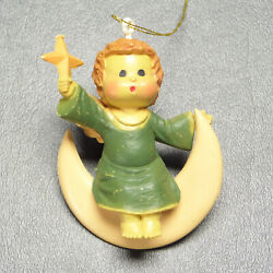 Vintage Angel On Moon With Star Christmas Ornament $9.75