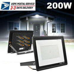 200W LED Flood Light Super Bright Cool White Outdoor Large Area Lighting Lamp $39.99