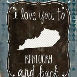 Kentucky And Back Rolled Canvas Art Katie Doucette 8 X 10 $29.93