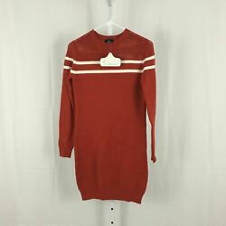 Angie Nordstrom NEW Women#x27;s Size Small Knit Orange Long Sleeve Sweater Dress NWT $14.97