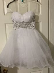 White Formal Party Dress $30.00