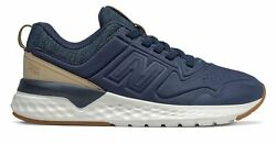 New Balance Kid#x27;s 515 Sport Little Kids Male Shoes Navy with Off White $20.46