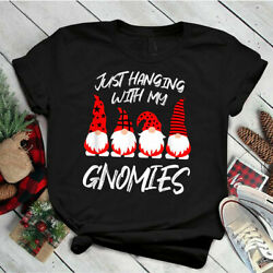 Just Hanging With My Gnomies Funny Elves Christmas Matching Unisex T Shirt $14.99