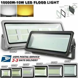 10W 1000W Outdoor Flood Light Waterproof LED Lights Porch Yard Security Lamp