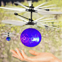 RC Flying Ball Drone Helicopter Ball Built in Shinning LED Lighting for Kids ✅ $11.15