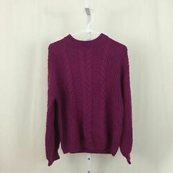 Abound Nordstrom NEW Women#x27;s Size Small Bright Purple Pullover Knit Sweater NWT $14.97