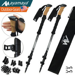 Adjustable Walking Stick Trekking Hiking Poles Carbon Fiber Aluminum Set Of 2 US $39.99