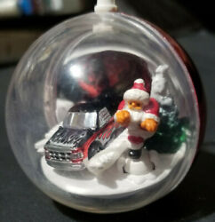 Hot Wheels Micro Christmas Ornament FORD Racing TRUCK 2005 Red Stocking Stuffer $9.99