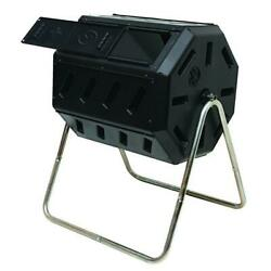 Tumbling Composter w Two Chambers for Efficient Batch Composting by FCMP Outdoor $63.75