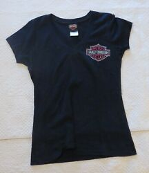 Lady Harley Black Top with Sequins – Size M $5.20