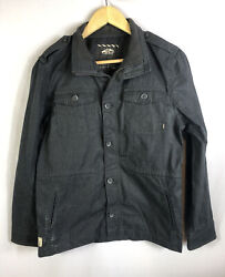 Vans Off The Wall Boys Size XL Zip Up And Button Jacket Slate Gray $15.19