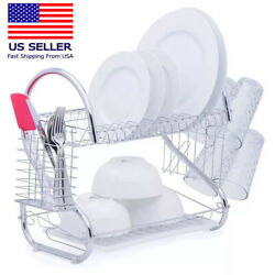 Hot Kitchen Dish Cup Drying Rack Drainer Dryer Tray Cutlery Holder Organizer US $20.99