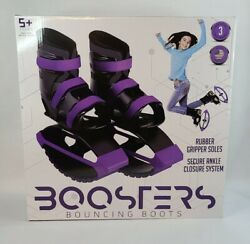 Madd Gear Boosters Bouncing Boots Purple amp; Black Rubber Soles Youth Size 3 6 $62.99