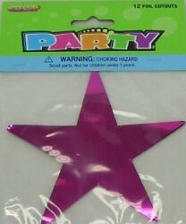 FOIL CUTOUTS STAR ASSORTED COLORS PACK OF 12 PARTY TOY SUPPLIES AU $4.55