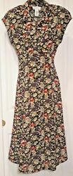Rena Rowan for Saville Floral Maxi Fit amp; Flare Dress Women#x27;s 6 80s 90#x27;S Vintage $25.00