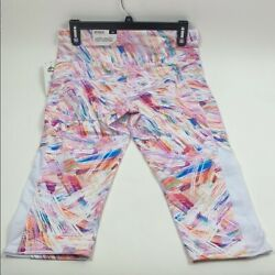 NEW RBX Multicolor High Waisted Capri Athleisure Pant 1x Pockets Stretch Wicking $13.50