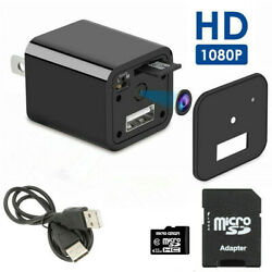 US Mini WIFI Charger Spy Camera 1080P HD Camcorder Hidden DVR Secure Loop Record $26.59