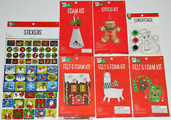 Bright Minds by Nicole Lot of 7 Christmas Crafts Foam Kits Ornaments Stickers $17.99