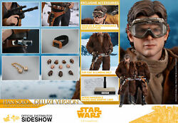NEW HOT TOYS 12quot; STAR WARS SOLO ASWS HAN SOLO DELUXE 1 6 SCALE FIGURE IN HAND $260.00