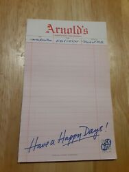 Rare Vintage 1996 Nickelodeon Nick At Nite Happy Days Promo Notepad $14.99