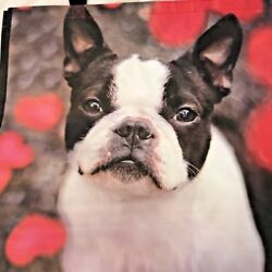 Boston Terrier Dog Large 100% Recyclable Reusable Eco Shopping Tote Bag $7.68