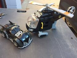 2007 Fisher Price Batman Helicopter amp; Bat mobile $18.00