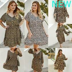 Oversized Dresses Cocktail Party Womens V Neck Casual Loose Evening Dress Maxi $25.29