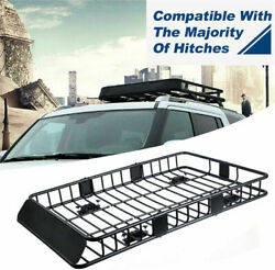 Universal Roof Rack Cargo Basket Car SUV Carrier Luggage Holder Travel Two Size $119.99