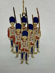1998 Baldwin Brass 24kt Gold Finished Toy Soldiers Ornament in Box $19.95