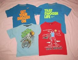 NIKE AND1 Starter Youth S Small Lot 4 pc basketball themed shirts Swoosh Life