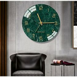 Wall clock vintage Nordic home décor European style glass new watches 14 Inch $42.99