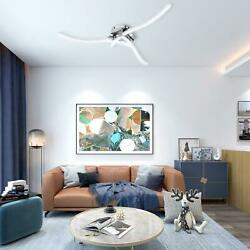 LED Ceiling Light Dimmable Elegant Curved Modern Lamp Fixture w Remote Control $34.12