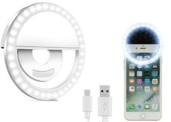 Portable Selfie LED Ring Fill Light Camera For Android Phone iPhone Rechargeable $7.45