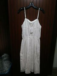 Maurie amp; Eve Womens Spaguetti Strap White Dress with Lace Size 10 $19.99