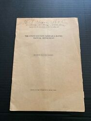 1906 The Cross Section Paper As A Mathematical Instrument by Eliakim H Moore $17.50