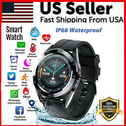 Waterproof Bluetooth Smart Watch Phone Mate Heart Rate Tracker For iOS Android $23.89
