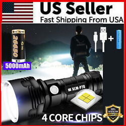 Super Bright 90000LM Flashlight CREE LED P70 Tactical Torch LED Recharge Battery $16.79