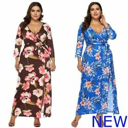 Dress V Neck Oversized Cocktail Plus Size Womens Maxi Evening Casual Loose $21.39