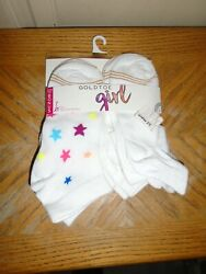 Gold Toe Girls Socks 7 Pair Size 4 10 Large NEW WITH TAGS $3.95