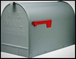 GIBRALTAR Extra Large Mailbox Post Mount Jumbo Capacity XL Steel Mail Box Gray $37.78