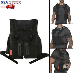 Tactical Chest Sports Bag Reflective Night Running Exercise Hiking for Men Women $19.25