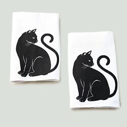 Cat Theme Kitchen and Bathroom Towels for Hands or Dishes Set of 2 $12.98