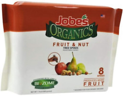 Jobe#x27;s Organics Fertilizer Spikes Fruit and Nut Tree 8 Spikes $33.41