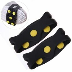Non slip Snow Cleats Shoes Boots Cover Step Ice Spikes Grips Crampons Hiking 2pc $4.97